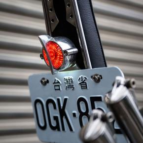 LED Aluminium schwarz Motorrad Rücklicht Fishtail Style