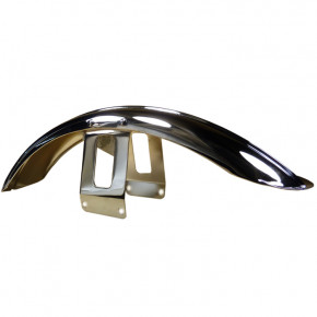 Chrom Front Fender Ribbed Style für Wide Glide Gabel