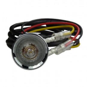 Mini Highsider LED Rücklicht rund chrom