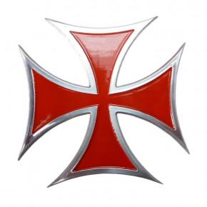 Emblem Iron Cross Aluminium - rot