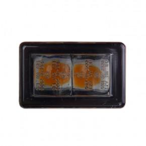 Zwei Micro LED Blinker Cube-H mit E Prüfung
