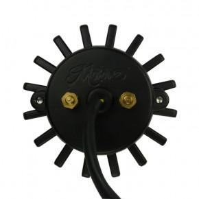 LED Motorrad Rücklicht im Krümmerflansch Style schwarz