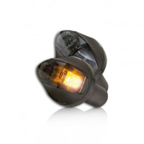 Schwarze Motorrad LED Lenkerendenblinker Knight
