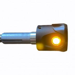 Schwarze Motorrad LED Lenkerendenblinker Akron-Flash