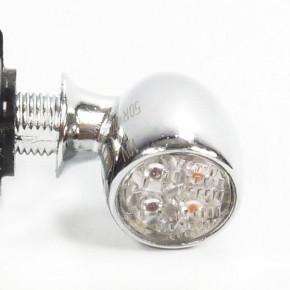 Chrom Mini LED Rücklicht Blinker Kombination 1 cm DM