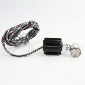 Chrom Mini LED Rücklicht Blinker Kombination 1 cm DM