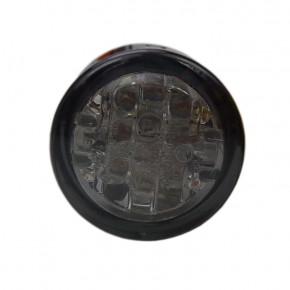 20 mm LED Mini Rücklicht rund smoked