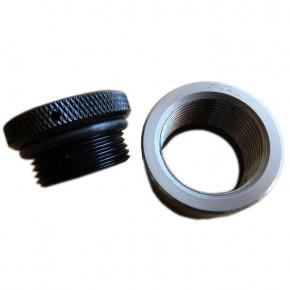 Aluminium Mini Tankdeckel schwarz und Stahl Einsatz