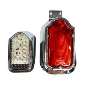 Mini LED Tombstone Rücklicht chrom/klar