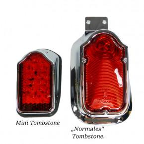 Mini LED Tombstone Rücklicht chrom/rot