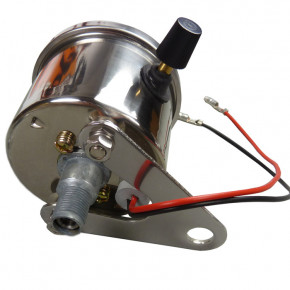 Mini Tachometer chrom weißes ZFB