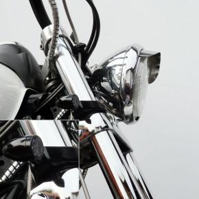 Blinkerhalter schwarz für 49 mm Gabeldurchmesser