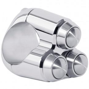 Chrom Aluminium Lenkertaster Triple für 22 mm Lenker