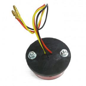 Rundes LED Rücklicht mit Kennzeichenbeleuchtung