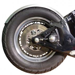Runder Motorrad Stahlfender little John 150 mm