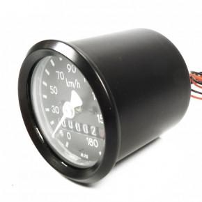Kleiner 48 mm Tachometer schwarz made in Germany