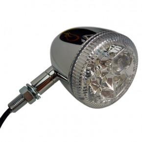 LED Rücklicht - Blinker Kombination chrom