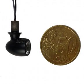 Mini LED Blinker Atto schwarz smoked superklein nur 1 cm
