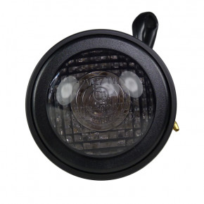 Rundes LED Fender Rücklicht schwarz