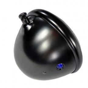 Schwarzer Hauptscheinwerfer mit seitlicher Befestigung