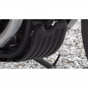 Aluminium Motorschutzblech schwarz für Triumph