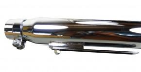 Custom Straight Schalldämpfer chrom 50mm Anschluss