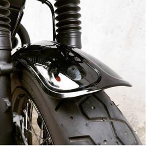 Schwarzer ribbed ABS Front Fender für Triumph Modelle Luftgekühlt