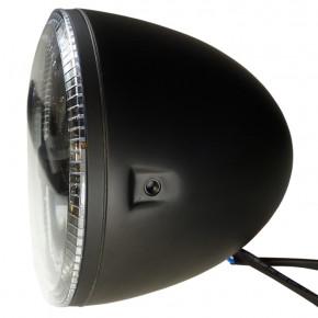 Schwarzer LED Hauptscheinwerfer mit seitlicher Befestigung