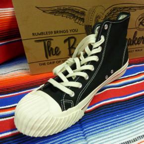 Burnout Sneaker schwarz mit Reifensohle 42