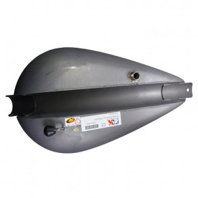 12,9 L Torpedo Style Benzintank mit tiefem Tunnel