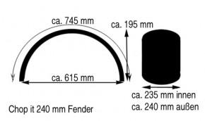 240 mm Stahlfender rund 2 mm Stahl