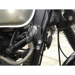 Zündschloss Versatz Halterung schwarz für Triumph Bonneville